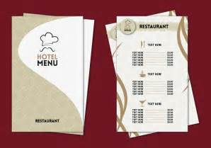 restaurant menu card templates hotel menu professional template vector free