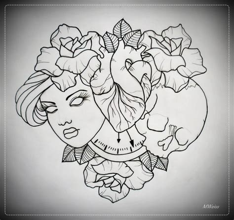 tattoo flash art outlines till death do us part tattoo flash outline by