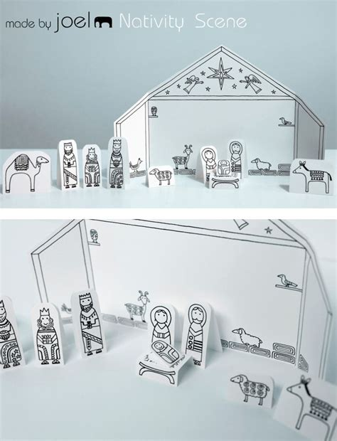 printable paper nativity scene 338 best sunday school crafts and worksheets images on