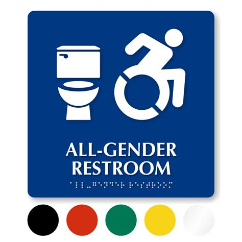 All Gender Bathroom by All Gender Restroom Signs