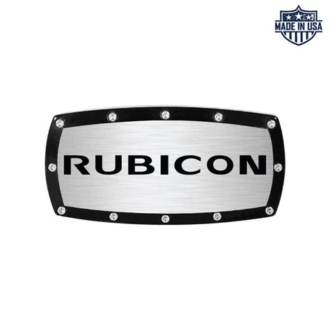jeep rubicon logo all things jeep rubicon logo billet hitch cover