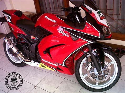 modifikasi kawasaki 250r warna merah motorcycle review and galleries