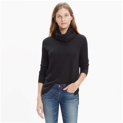 Sweater Turtleneck lyst madewell ribbed turtleneck sweater in black