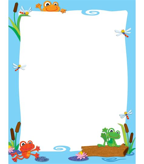 frog border writing paper search results for winter border kindergarten writing