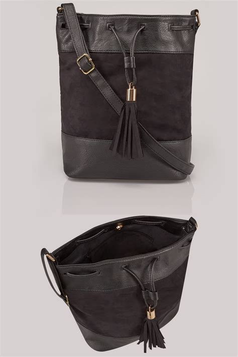 Can You Return Items Bought With A Gift Card - black pu suede bucket bag with tassel detail