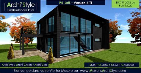 Construction Maison Style Loft 2659 by Loft 1 Archistyle Loft D Architecte Par Votre Constructeur