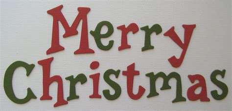 merry christmas titles bazzill merry title chipboard letters ebay