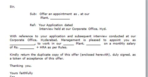 Hcl Offer Letter 3 Years Every Bit Of Offer Letter Format Free