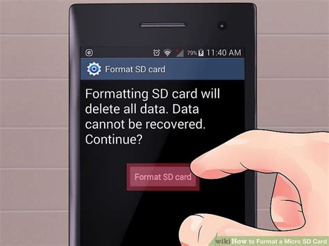 Sd Card Template by 4 Ways To Format A Micro Sd Card Wikihow