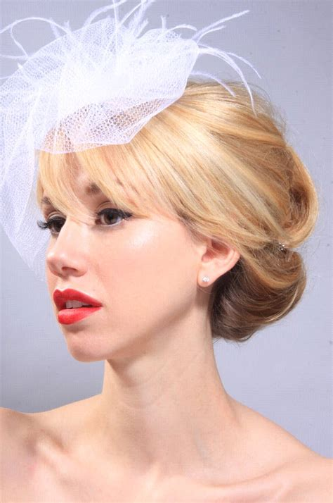 Wedding Hairstyles For Birdcage Veils by Beautiful Vintage Inspired Bridal Hairstyle With White