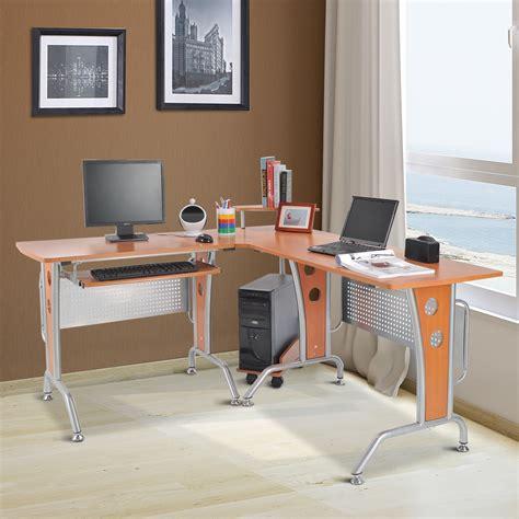 homcom l shaped desk homcom 67 modern l shaped corner computer desk office