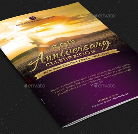 church anniversary program template church anniversary service program template designingbucket
