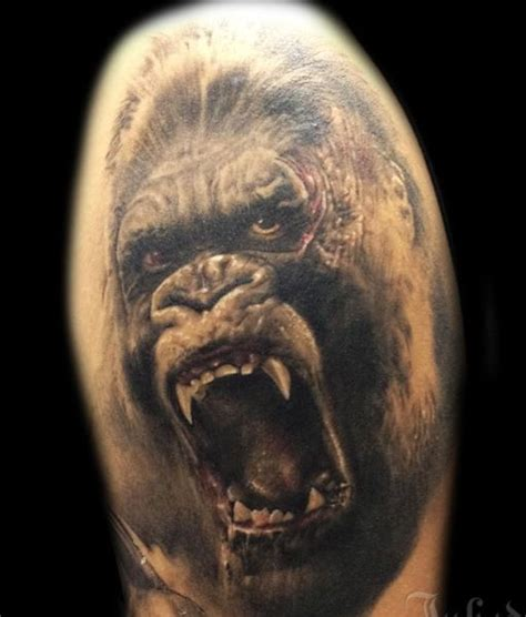 gorilla tattoos pics for gt angry gorilla designs