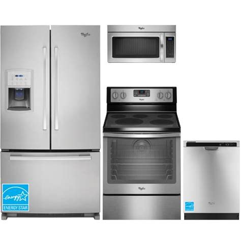 stainless steel kitchen appliance package sale whirlpool gi0fsaxvy stainless steel complete kitchen