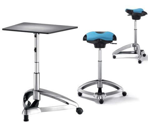 Office Chairs For Standing Desks by Dolpdhin Futuristic Metal Standing Office Desk And Seats Products I Office