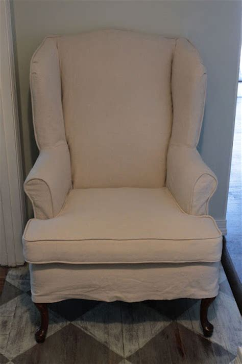 vanhook  slipcovered wingback chair
