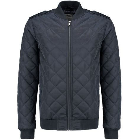 Bomber Jacket Quilted by Navy Quilted Epaulette Bomber Jacket For