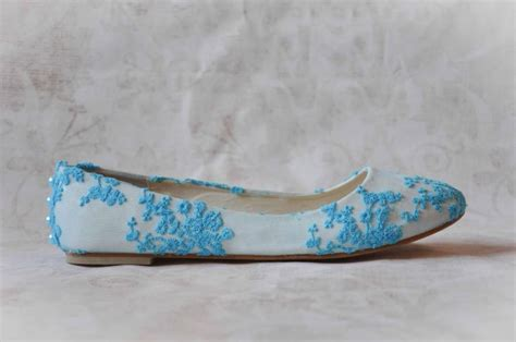 Blue Wedding Flats by Blue Lace Wedding Flats Www Pixshark Images