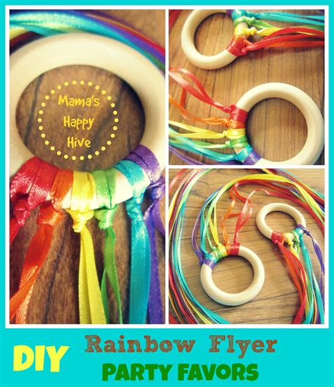 party themes diy diy party favors mini rainbow flyer mama s happy hive