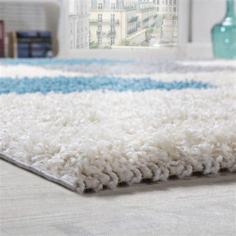 teppich grau gemustert shaggy teppich hochflor langflor gemustert in karo t 252 rkis