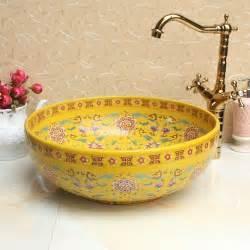 decorative bathroom sink bowls europe vintage style ceramic basin sinks counter top