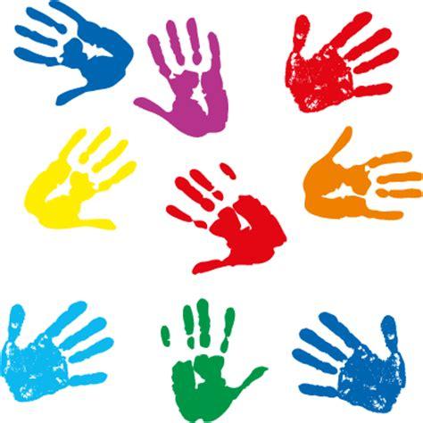 clipart mano pintadas con palmas de ni 241 os vector vector clipart