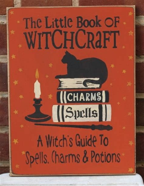 the little bookshop on the little book of witchcraft sign witch witchcraft spells charms icehousecrafts on artfire