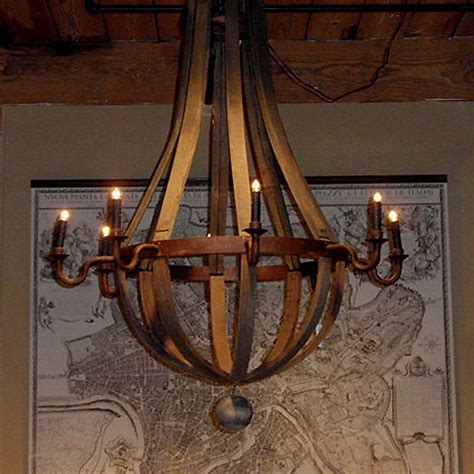 wine barrel ceiling fan reclaimed wood barrel chandelier eclectic chandeliers