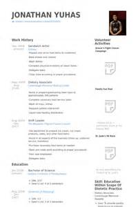 sle resume for subway sandwich artist sandwich artist resume sles visualcv resume sles