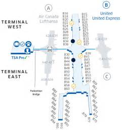 airport map united states denver international den airport map united airlines
