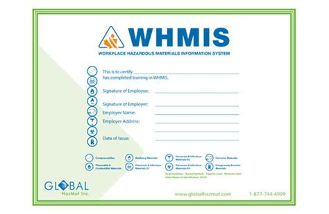 whmis workplace label template whmis 1988 before ghs wallet certificates workplace