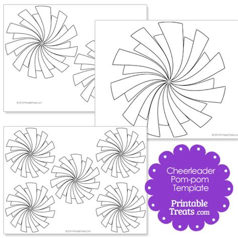 printable pom pom template printable pom pom template printable treats