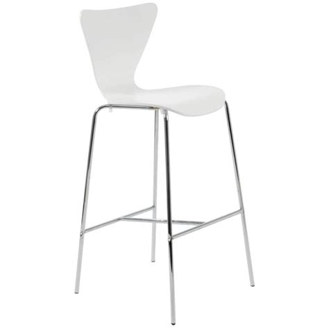 White Bar Stool Chairs Tessa Bar Chair White Chrome Bar Stools