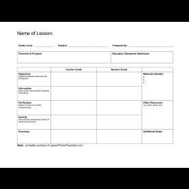 regular lesson plan template nursing    unit