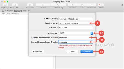 t email eingang hilfe wie richte ich posteo in mail apple mac os x