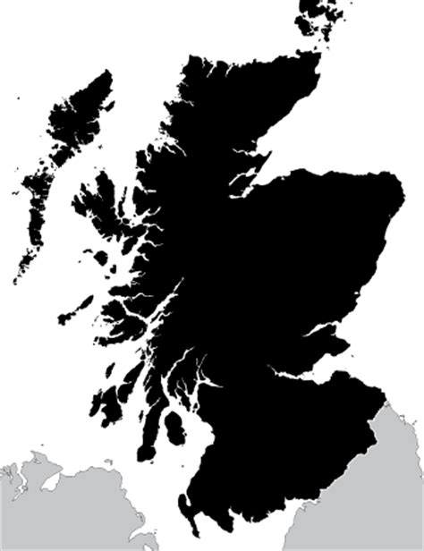 Scottish Outline by Scotland Outline Map Royalty Free Editable Vector Map Maproom
