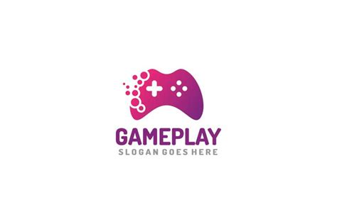 game play logo   vectors clipart graphics