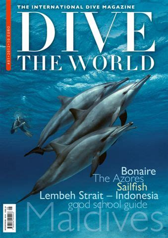 dive magazine announcing dive the world the international dive