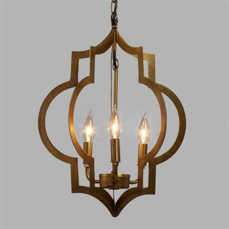gold lights gold quatrefoil 3 light pendant l world market