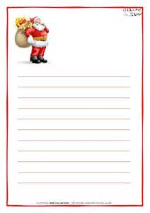printable letter to santa claus paper with lines santa