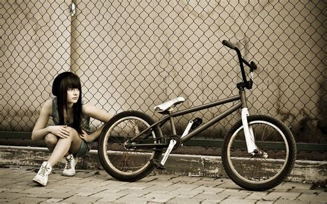 imagenes wallpapers bmx 壁紙画像 187 自転車と少女 bicycle and girl
