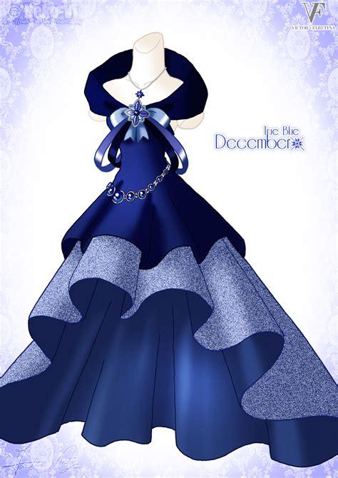 design winter clothes true blue december by neko vi on deviantart