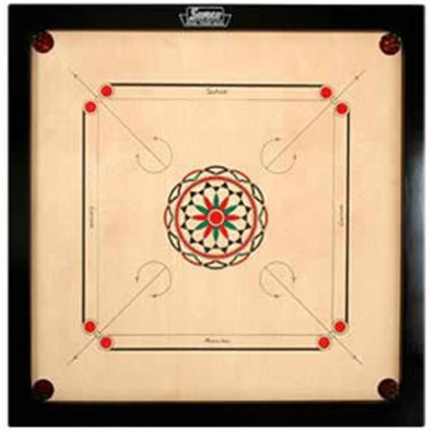 surco ellora carrom board with coins and striker 4mm size toys