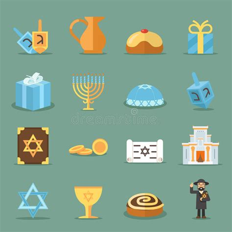 kerzenhalter judentum j 252 dische flache ikonen israel und judentum vector symbole