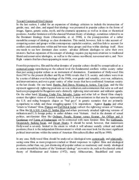 dominant ideology thesis adalah film politics and ideology