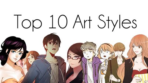 top  webtoon art styles youtube
