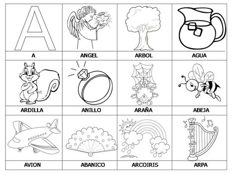 palabras con la letra a tools for educators didactalia vocabulario con im 225 genes para ni 241 os spanish kids
