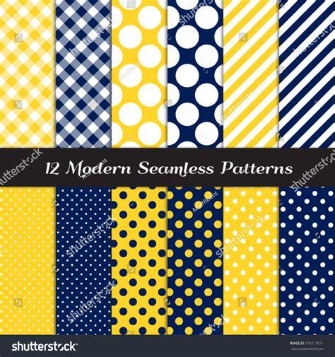 Seamless Patterns With Gingham Polka Dot Iphone Semua Hp navy blue yellow white jumbo polka stock vector 176217611