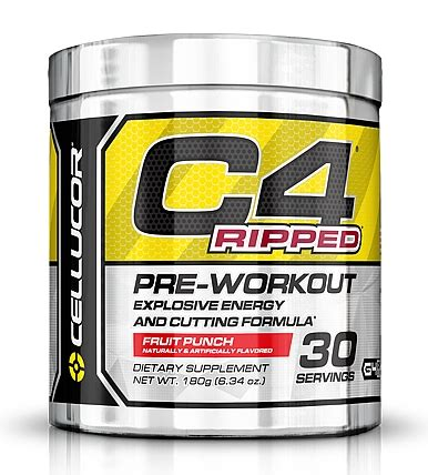 Suplemen C4 cellucor c4 ripped the burning pre workout