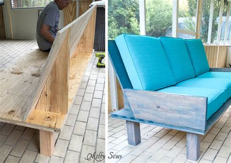 diy plywood sofa plywood couch build a diy outdoor sofa melly sews